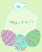 Eggs_card — Stock Vector