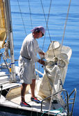 Yachtsman on the board — Stock Photo