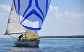 Regatta on the river Dnieper — Stock Photo