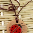 Clay amulet ladybug - Stock Photo