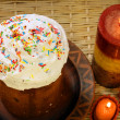 Easter cake with candles — Stock Photo #10532456