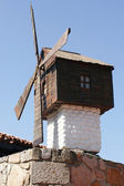 Old wooden mill in Nessebur — Stock Photo