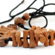 Ethnic clay necklace - Stock Photo