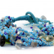 Handmade bracelet of glass bead — Stock Photo