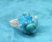 Pierścień koraliki ręcznie (szkło — Zdjęcie stockowe
