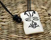 Wooden african amulet — Stock Photo