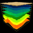 Постер, плакат: Abstract geology layers scheme