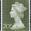 Stamp UK Queen — Stock Photo