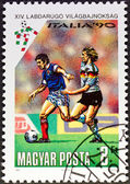 Stamp italia 90 — Stock Photo