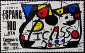 Stamp Spain — Stock Photo