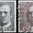 Two Stamps,Spain — Stock Photo