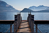 Bridge on Lake of Como — Stock Photo