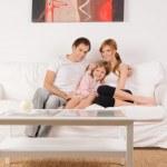 счастье семья в доме — Стоковое фото