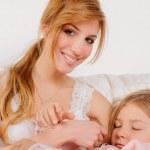 Спящая дочь — Стоковое фото
