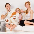 Happy Family playing at home — Stock Photo #9161782