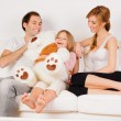 Happy Family playing at home — Stock Photo #9161808