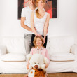 Happy Family playing at home — Stock Photo #9161971