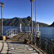 Lugano Lake and Pier in Switzerland — Stock Photo #9191151
