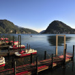 Lugano renting boat in Switzerland — Stock Photo