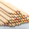 Pile of multi coloured pencils — Stock Photo