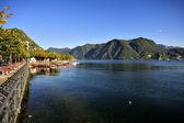 Jezioro Lugano w Szwajcarii — Zdjęcie stockowe