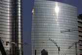 Skyscraper and Cranes in Milano - Italy — Stock Photo
