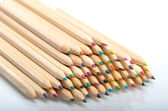 Pile of multi coloured pencils — Stock Photo