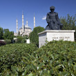 Stock Photo: Selimiye Mosque and statue of Mimar Sinan