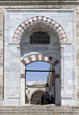 Door to yard of Uc Serefeli Mosque, Edirne, Turkey — Stock Photo
