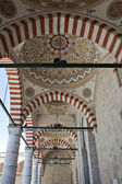 Arches and decorations of Uc Serefeli Mosque, Edirne, Turkey — Stock Photo