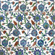 Wall tiles in Sultanahmet Mosque — Stock Photo