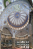 Interior view of Sultanahmet Mosque — Stock Photo