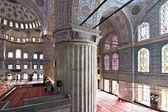 Interior view of Sultanahmet Mosque — Stock Photo