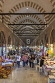 Tourists and local visit Alipaşa bazaar in Edirne — Stock Photo