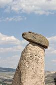 Turkey, Cappadocia, Head of erosion column — Stock Photo