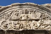 Medus detail of Hadrian's Temple, Ephesus — Stock Photo