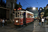 Tram in Beyoglu, Istanbul — Stock Photo