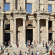 Visit the library of Celsus in Ephesus city — Stock Photo #9390264