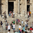 Visit the library of Celsus in Ephesus city — Stock Photo