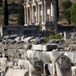 View of The library of Celsus from Marble street — Stock Photo #9390368