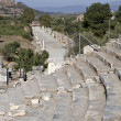 View of Horbour street from theatre, Ephesus — Stock Photo
