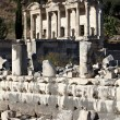 View of The library of Celsus from Marble street — Stock Photo #9390390