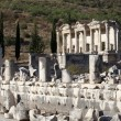 Stock Photo: View of library of Celsus from Marble street