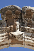 Bust of Hadrian's Arch, Ephesus, Izmir, Turkey — Stock Photo
