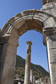 Columns, and Gate in Odeion, Ephesus — Stock Photo