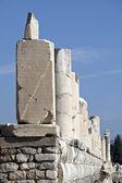 Colums of marble street in Ephesus, Izmir, Turkey — Stock Photo