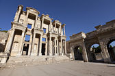 The Library of Celsus is an ancient building in Ephesus — Stock Photo