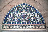 Iznik Tile Detail from wall of Selimiye Mosque — Stock Photo