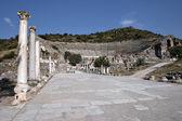 Street and Amphitheater of Ephesus — Stock Photo
