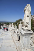 A statue on Kuretes Street in Ephesus — Stock fotografie